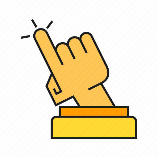 achievement, award, finger, hand, one, prize, trophy icon