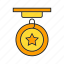 ceremony, medal, rank, star, status icon