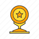 award, prize, reward, star, success, trophy, win icon