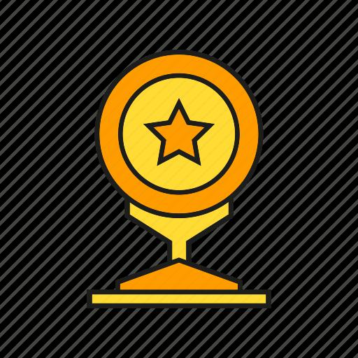 award, prize, reward, star, success, trophy, win icon