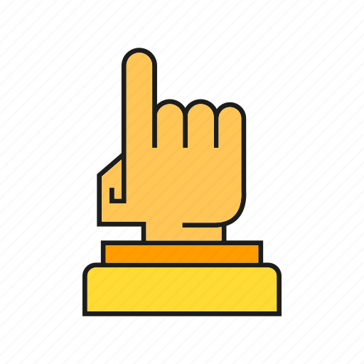 award, finger, hand, prize, success, trophy, win icon