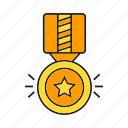 award, ceremony, medal, prize, reward, star, win icon