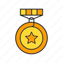 award, ceremony, medal, reward, star, success, win icon