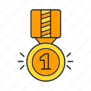achievement, award, ceremony, medal, prize, reward, win icon