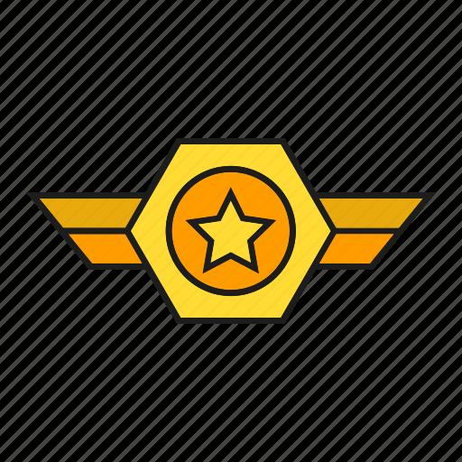 badge, insignia, military rank, seal, status icon