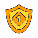 award, best, prize, reward, shield, success, win icon