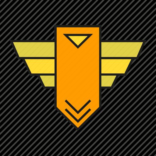badge, insignia, military rank, rank, seal, soldier, status icon
