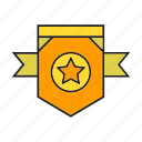 badge, insignia, military rank, rank, seal, star, status icon