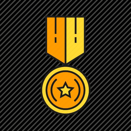 achievement, award, medal, prize, reward, star, win icon