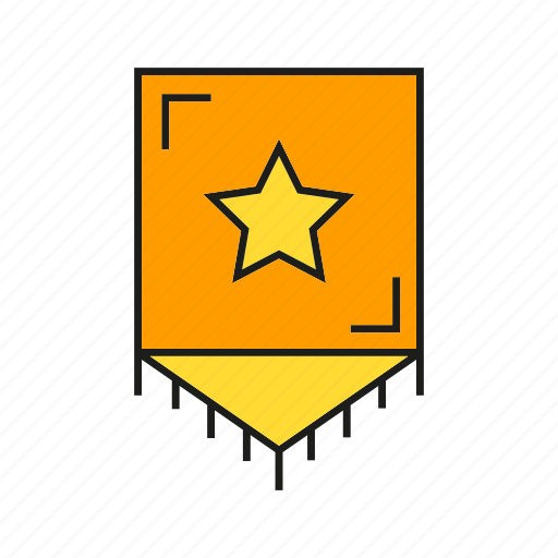 banner, blazon, ensign, flag, star icon