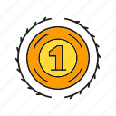 achievement, best, medal, one, prize, success, win icon