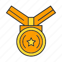 achievement, award, medal, prize, reward, success, win icon