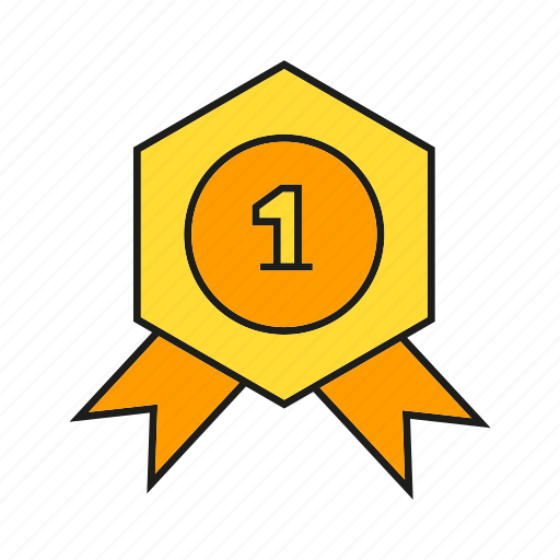 achievement, medal, prize, reward, ribbon, success, win icon