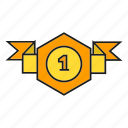 achievement, award, prize, reward, ribbon, success, win icon