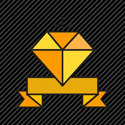 adamant, award, diamond, prize, reward, success, value icon