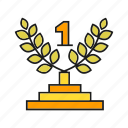 award, prize, reward, success, wheat, win, winner icon