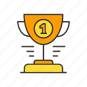 award, cup, prize, reward, success, trophy, win icon
