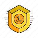 achievement, aegis, award, prize, shield, success, win icon