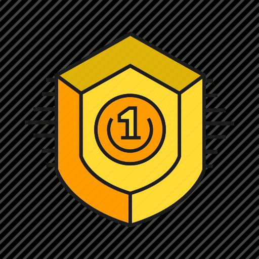 achievement, aegis, award, prize, shield, success, win icon