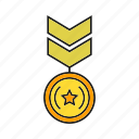 badge, insignia, medal, military rank, rank, seal, status icon
