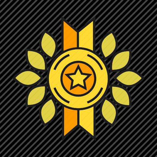 achievement, award, medal, prize, reward, success, win icon