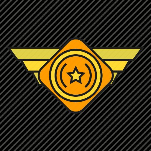 badge, insignia, military rank, rank, seal, status icon