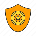 aegis, award, prize, protect, reward, shield, star icon