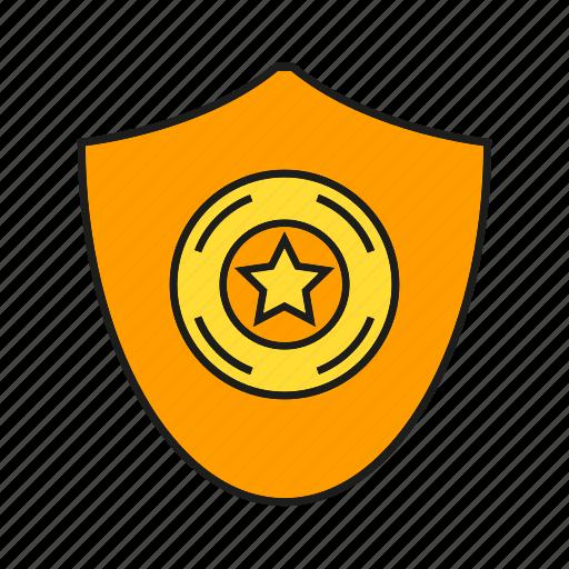 aegis, award, prize, protect, reward, shield, star icon