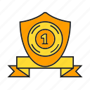 aegis, award, prize, reward, shield, success, win icon