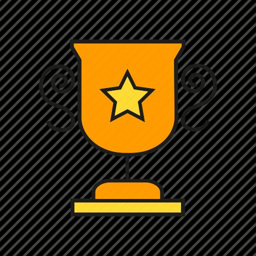 achievement, award, cup, prize, reward, success, trophy icon