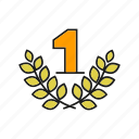 award, best, one, prize, reward, top, wheat icon