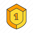 achievement, award, prize, reward, shield, success, win icon