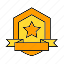 award, prize, reward, ribbon, shield, success, win icon