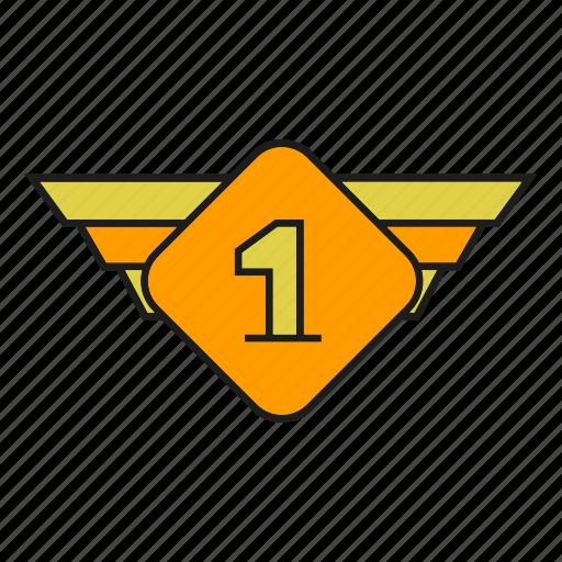 badge, insignia, military rank, one, rank, seal, status icon
