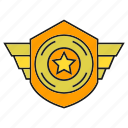 badge, insignia, military rank, rank, shield, star, status icon