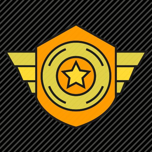 badge, insignia, military rank, rank, shield, star, status icon