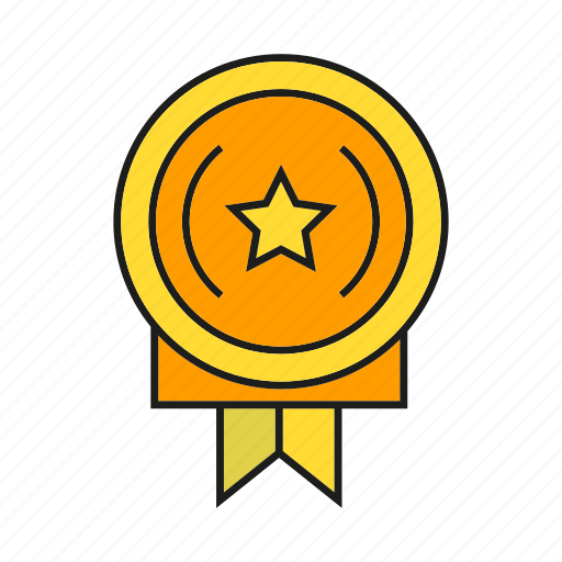 award, medal, prize, reward, star, success, win icon