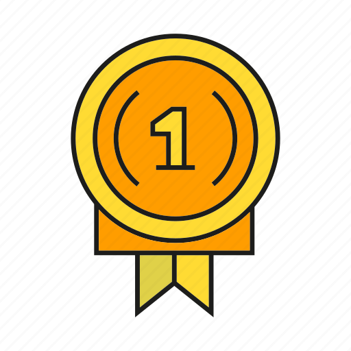 award, medal, one, prize, reward, success, win icon