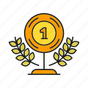 award, best, prize, reward, success, trophy, win icon