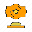 award, cup, prize, reward, star, trophy, win icon