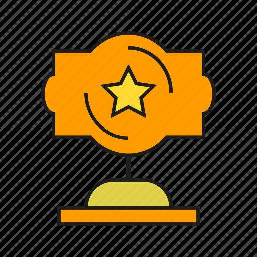 award, cup, prize, reward, star, trophy, win icon