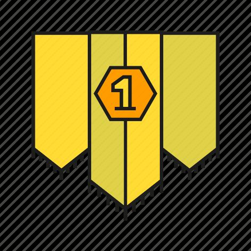 award, banner, best, blazon, ensign, flag, prize icon