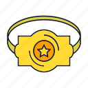 award, belt, champ, prize, reward, star, win icon