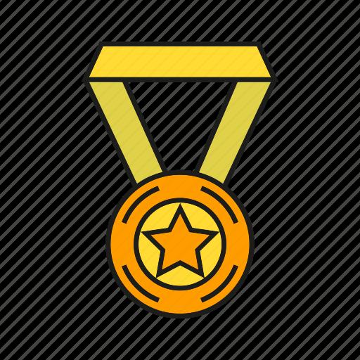 achievement, award, medal, prize, star, success, win icon