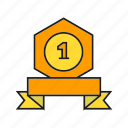 award, best, medal, prize, reward, ribbon, win icon