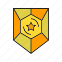 achievement, prize, protect, shield, star, success, win icon
