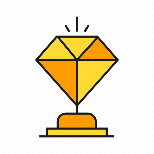 achievement, adamant, diamond, prize, reward, success, value icon