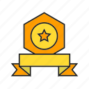 award, medal, prize, reward, ribbon, star, win icon