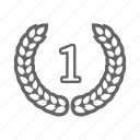 award, badge, crown, prize, trophy, win icon