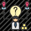 alternative, choice, distribution, location, vender icon